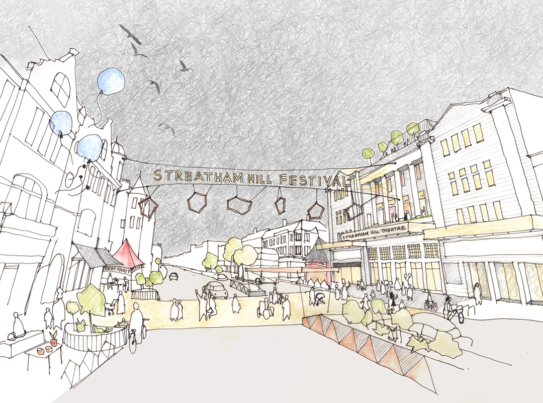 Artists image of vision streetscape